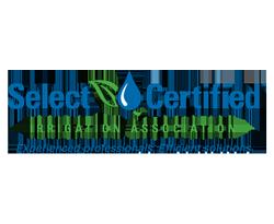 select certified irrigation association badge